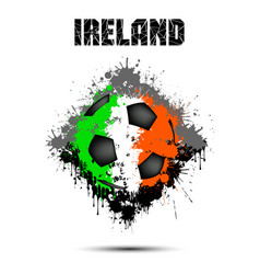 soccer ball in the color of ireland vector image