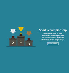 sports championship banner horizontal concept vector image