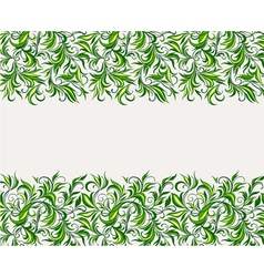 Stylized leaves and branches vector