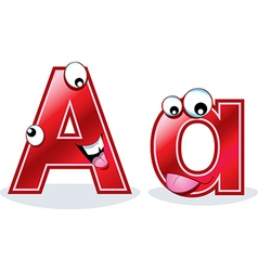 The letter Aa vector