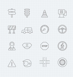 Traffic thin line symbol icon vector