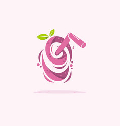 Twisted juice abstract logo vector