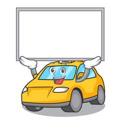 Up board taxi character cartoon style vector