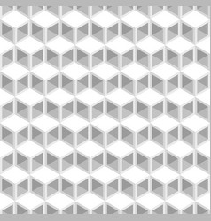 White and grey cubes pattern seamless background vector