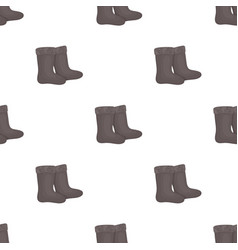 Winter felt boots icon in cartoon style isolated vector