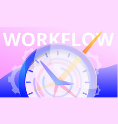 workflow concept banner cartoon style vector image