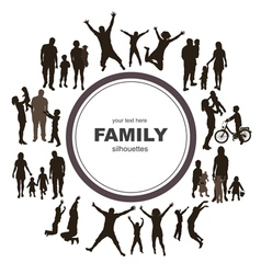 Young family concept vector
