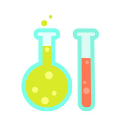 chemical test tube icons isolated on white vector image