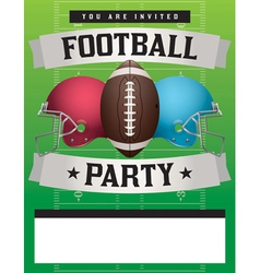 Football Party Template vector image vector image