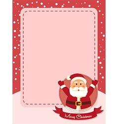 Merry Christmas Santa Banner Red vector image