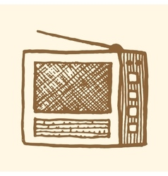 Old radio Vintage style vector image vector image