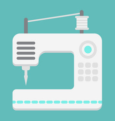 Sewing machine flat icon household and appliance vector