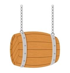 Wooden barrel icon image design vector