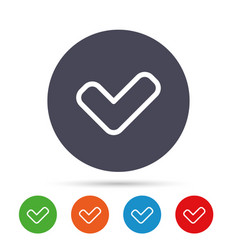 check sign icon yes button vector image