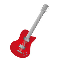 colorful silhouette with electric guitar vector image vector image