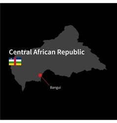 Detailed map of Central African Republic and vector image