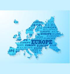 Europe map presentation vector image