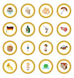 Germany cartoon icon circle vector