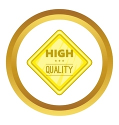 High quality label icon vector image vector image
