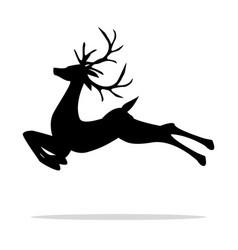 jumping deer vector image