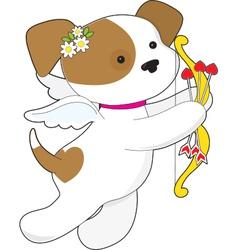 Cupid Puppy vector image vector image