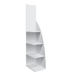 Display rack shelves for supermarket vector