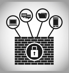 security system data internet concept vector image vector image