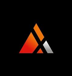 triangle symbol letter X logo vector image vector image