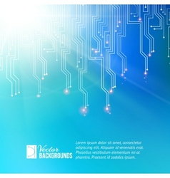 Colored circuit abstraction vector image vector image