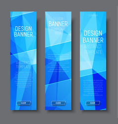 design vertical banners with abstract blue vector image