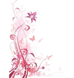 Floral Pink vector image vector image