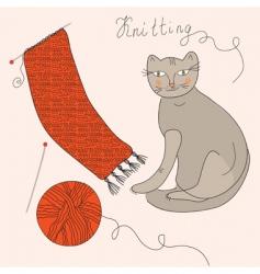 knitting set vector image vector image