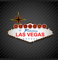 las vegas casino sign background vector image