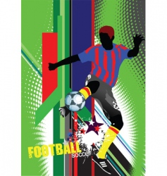 world cup poster vector image vector image