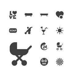 13 orange icons vector