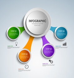 Abstract colored rounds info graphic elements vector image