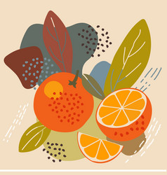 abstract pastel colors fruit element memphis style vector image