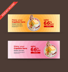 Abstract shopping sale web banners vector