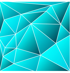 abstract vitrage - triangular shades of azure grid vector image
