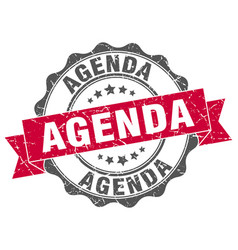 Agenda stamp sign seal vector