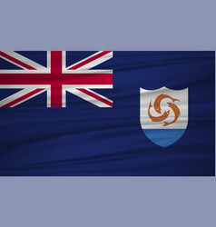anguilla flag anguilla flag blowig in the wind vector image