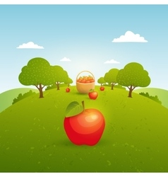 Apple garden vector