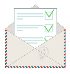 Approved message on white background vector image