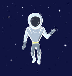 astronaut floating in space vector image