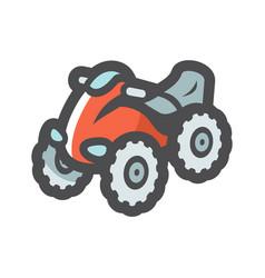 Atv motorcycle on four wheels icon cartoon vector