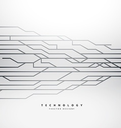 Background with technology lines vector