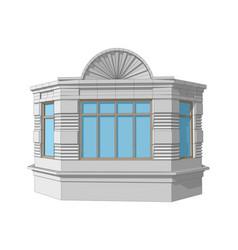 Bay window vector