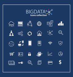 big data icon set data analytic data mining vector image