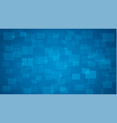 blue shiny squares shapes technical background vector image