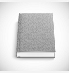 book template with grey color lather hard cover vector image